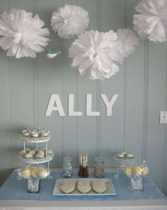 a *snow* party -- cute theme for a winter birthday :)