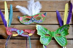 Mardi Gras Mask Craft and Template