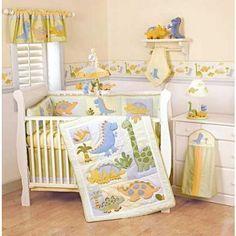 baby dinosaur crib bedding - Buscar con Google