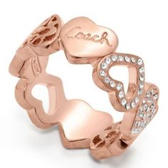 POPSUGAR Shopping: Coachミランダ ハート バンド リング / Miranda Heart Band Ring