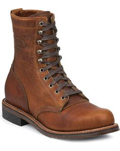 Chippewa Men's Tan Renegade Service Boots - Round Toe