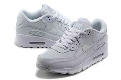 Womens Nike Running Air Max 90 Hyperfuse All White Shoes
