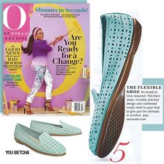 "Have you seen the Aerosoles ""You Betcha"" shoe featured in the latest issue of the Oprah Magazine? This leather flat shoe is in style this spring season with the popular punch out design. We love this classic style which makes for a great transition shoe from winter to spring and summer. The shoe can look casual with a pair of jeans or more dressed up with a skirt."
