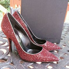 "Selling this ""DSquared2 Maroon Glitter Pumps."" in my Poshmark closet! My username is: planetqueen. #shopmycloset #poshmark #fashion #shopping #style #forsale #DSquared2 #Shoes"