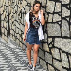 Ootd, Denim Skirt, Women's Fashion, Skirts, Instagram Posts, Fashion Inspiration, Woman Fashion, Everything, Beauty