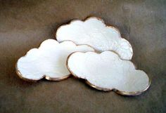 Small Lace Ceramic Cloud Ring Dishes In by dgordon on Etsy Ceramic Clay, Ceramic Pottery, Pottery Art, Diy Clay, Clay Crafts, Arts And Crafts, Cerámica Ideas, Handmade Stamps, Hand Built Pottery