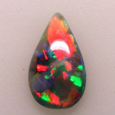 Harlequin Drop, Black Opal, Lightning Ridge, Australia Crystals And Gemstones, Stones And Crystals, Types Of Opals, Lightning Ridge, Rocks And Gems, Gem Stones, Australian Opal, Black Opal, Gems And Minerals