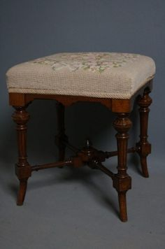 Edwardian (1901-1910) Humor Antique Edwardian Mahogany Piano/dressing Table Stool Antiques