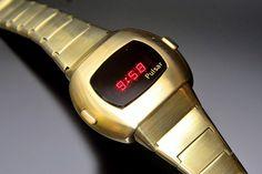 Pulsar P3 (Gold-Filled) Led Watch, Smart Watch, Wristwatches, Gold, Tech, Vintage, Smartwatch, Vintage Comics, Technology