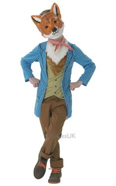 Fantastic Mr Fox Kids Fancy Dress World Book Day Animal Childs Costume Outfit