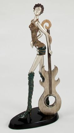 Rock Goddess  Music Modern Figurine Sculpture Statue-Home Décor-Music Related Gifts-Available for Sale at AllSculptures.com