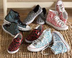 DIY Stenciled Animal Print Tennis Shoes