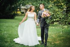 Emily looks magnificent wearing Sophia Tolli Harriet - Style Y11706 - a strapless tulle wedding dress with beaded lace bodice