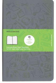 Moleskine Evernote Smart Ruled Notebook Large Hard Cover Slate Grey (Notebook…