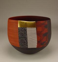 Thomas Hoadley - colored porcelain, gold leaf