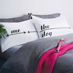 These Dog Hogger pillowcases are the latest in our range to celebrate 'bed-hogging'.Other cases in our Bed Hogger range include: My Side / Your Side Mum / The Kids / Dad Personalised My Side / Your Side with names We offer a totally no-quibble policy on refunds or swaps on all unpersonalised items. We appreciate there is nothing more deflating than receiving a gift you are not totally delighted by. So if you are in any way underwhelmed please let us know so we can make amends swiftly and…