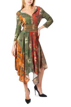 Midi summer dress Orange Pattern, Ohio, Summer Dresses, Clothes For Women, Sleeves, Color, Clothing, Fashion, Orange Dress