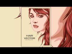 How to create a hair vector in illustrator - Illustrator tutorial - YouTube