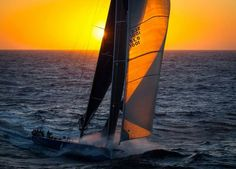 sailing in sunset ...