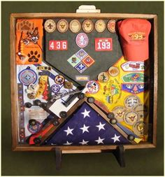 Cub Scout/Boy Scout shadow box