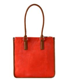 Take a look at this Orange Kensington Tote by Shiraleah on #zulily today!