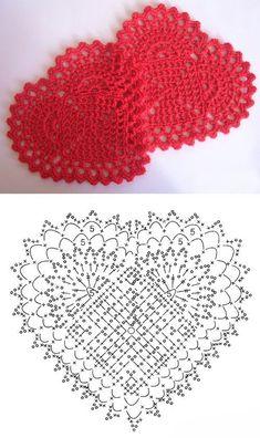 52 ideas for crochet heart filet knitting charts charts flower Crochet Diagram, Crochet Chart, Thread Crochet, Crochet Motif, Crochet Doilies, Crochet Flowers, Crochet Patterns, Knit Crochet, Crochet Snowflake Pattern