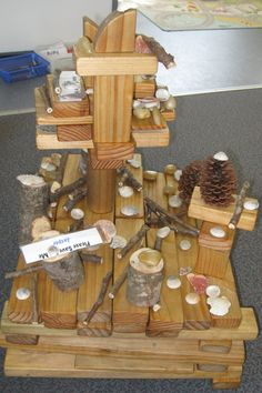 Loose parts in the block play area--representation, imagination, creativity, exploration, problem solving!