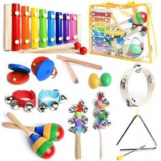 SMART WALLABY Toddler Musical Instruments Set with Xylophone. Kids Wooden Toy Percussion Set with a Free Musical Games eBook Bonus (Little Band) price history, best deal, and finding similar items Card Games For Kids, Music For Kids, Baby Musical Toys, Best Educational Toys, Educational Activities, Learning Activities, Interactive Toys, Music Class, Montessori Toys