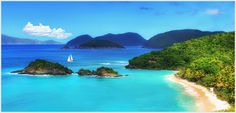 https://flic.kr/p/e5HtcW | Alluring Caribbean Island with a Heart | St. John Island, US Virgin Islands Getty Images Collection  Trunk Bay is frequently rated as  the most beautiful beach in the world, but to me also the most romantic beach.  With sparkling soft white sands,  crystal clear turquoise and indigo blue water, tropical corals teeming with fish, sounds of gentle waves and rustle of coconut palms, this untouched natural beauty with stunning view forms an exquisite setting to relax…