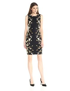 Calvin Klein Women's Printed Dress with Darts  http://www.artydress.com/calvin-klein-womens-printed-dress-with-darts/