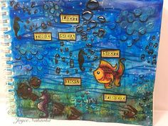 Art journal using Faber-Castell Design Memory Crafts products.  My last Guest DT post http://enjoyscrappin2.com