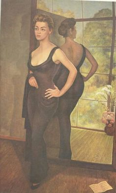 Silvia Pinal painted for Diego Rivera.