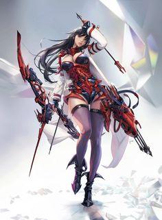 super Ideas for fantasy warrior concept art rpg Dark Fantasy Art, Fantasy Art Women, Beautiful Fantasy Art, Anime Fantasy, Fantasy Girl, Final Fantasy, Fantasy Female Warrior, Anime Warrior, Art Anime Fille