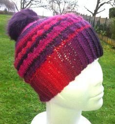 Voici ce qu'il vous faut si vous craignez le froid a votre tête, ce joli bonnet réalisé au crochet dans une : Chapeau, bonnet par sandrine-campana