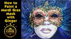 How to Paint a Mardi Gras Mask with Acrylic Paints for Beginners by Ging...