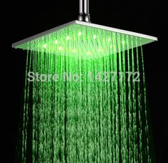 Shower Heads Trend Mark 7colors Colorful Led Shower Head Changing Shower Head No Battery Led Waterfall Single Shower Head Round Bathroom Accessories Dependable Performance