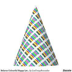 Belarus Colourful Happy Letters Party Hat
