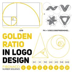 Golden Ratio in Logo Design - Templates Engine Logo Design Tipps, S Logo Design, Design Vector, Graphic Design Tutorials, Brand Identity Design, Branding Design, Create Logo Design, Design Design, Golden Ratio In Nature