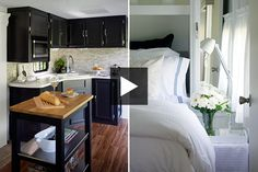 See how designer Jackie Glass transformed a 450-square-foot trailer into a stylish micro-home. Get her expert small space decorating tips!