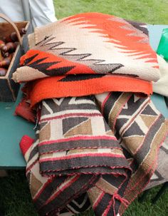 favorite navajo rugs include coral mixed with black and tan. win.