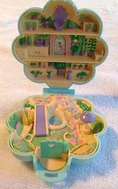 Vintage 1990 Polly Pocket Midges Flower Shop Bluebird Toys