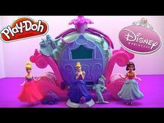 Play Doh Disney Magical Carriage Princess Cinderella Magiclip Snow White...