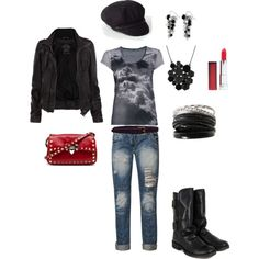 tough girl, created by jessica-martin-peterson on Polyvore