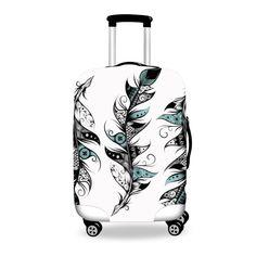 Poetic Feather  #luggage #cover #art #boho #bohochic #forudesign