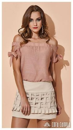 Swans Style is the top online fashion store for women. Shop sexy club dresses, jeans, shoes, bodysuits, skirts and more. Boho Fashion, Girl Fashion, Fashion Dresses, Womens Fashion, Fashion Design, Blouse Styles, Blouse Designs, Casual Chic, Skirt Outfits