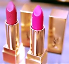 REVIEW: YSL ROUGE PUR COUTURE LIPSTICKS 》#9 ROSE STILETTO AND #19 FUSCHIA