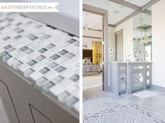 Mosaic Tile   Gray White Bathroom   The Lettered Cottage   Mirrored Wall