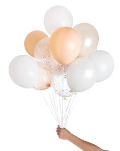 Peach Baby Shower Ideas, confetti balloons before for peach wedding, baby shower or party!