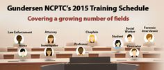 2015 National Child Protection Training Schedule (Prosecutors, Law Enforcement, Forensic Interviewers, Victim Advocates and more!)