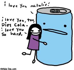 Comic by Natalie Dee: i love you